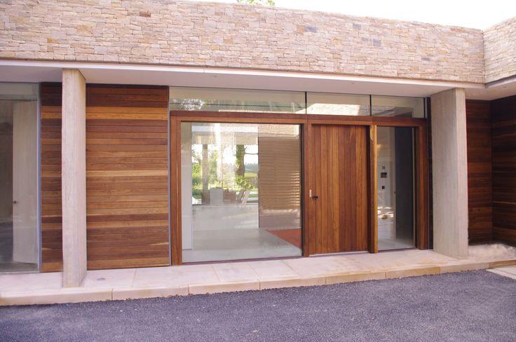Lees Munday architects | Underground House 04 | Main entrance door 2.4m x 1.2m