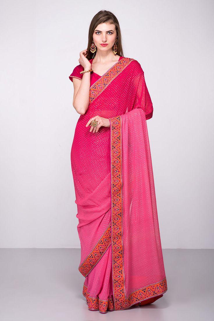 29 mejores imágenes de sari en Pinterest   Magenta, Medio sari y ...