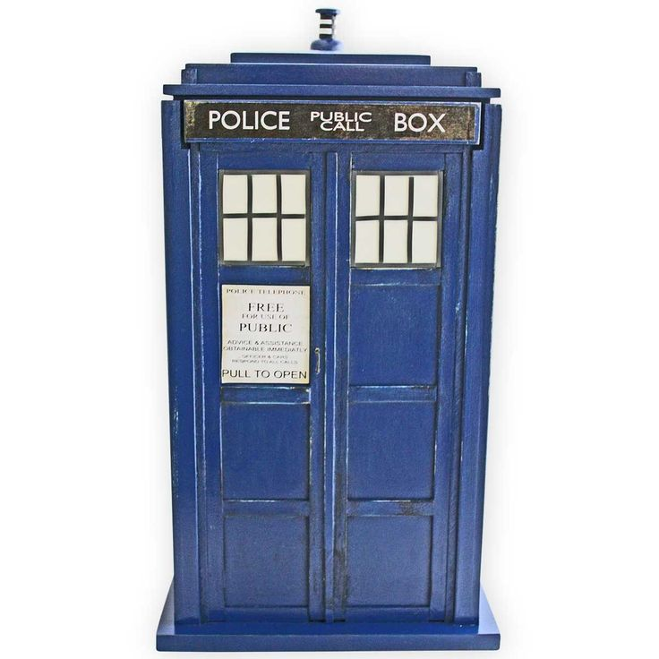 Police Call Box Wooden Urn - View 1