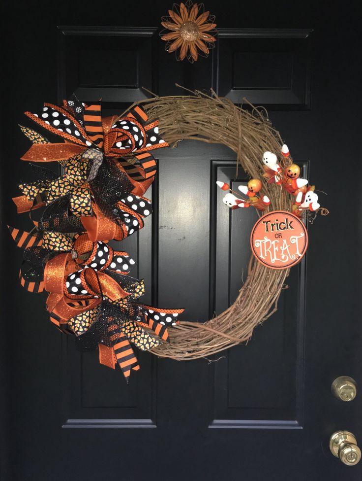 Halloween Wreath, Whimsical Halloween Wreath, Halloween Decor