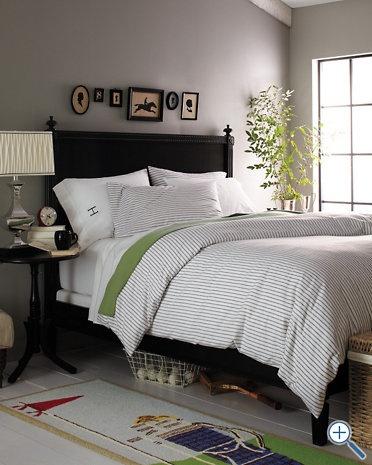black bed with unique details