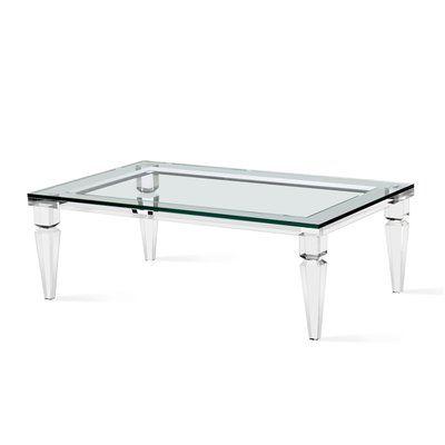 Nakasa Devaro Acrylic And Glass Coffee Table Coffee Table Lucite Coffee Tables Decorating Coffee Tables