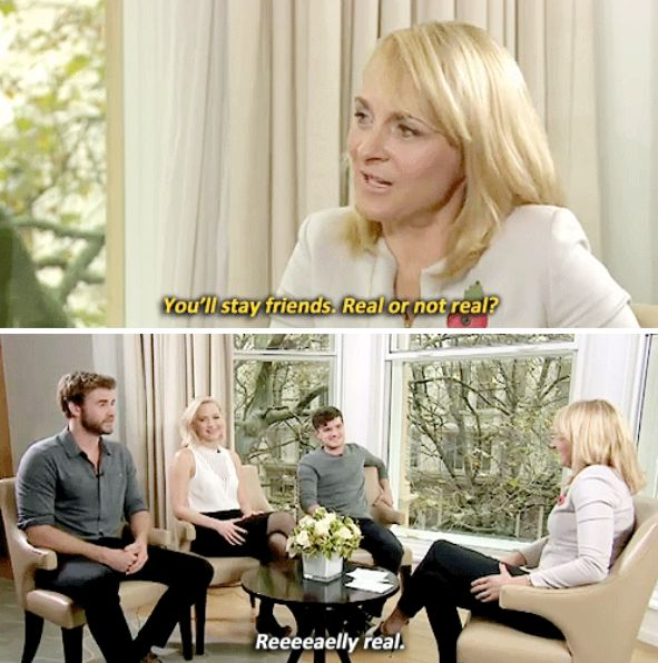 Their admission that they will really stay friends forever: | 21 Times Jennifer Lawrence, Liam Hemsworth And Josh Hutcherson Proved That True Love Does Exist