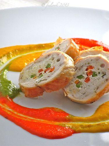 Involtini di pollo ai peperoni by FeelCook, via Flickr