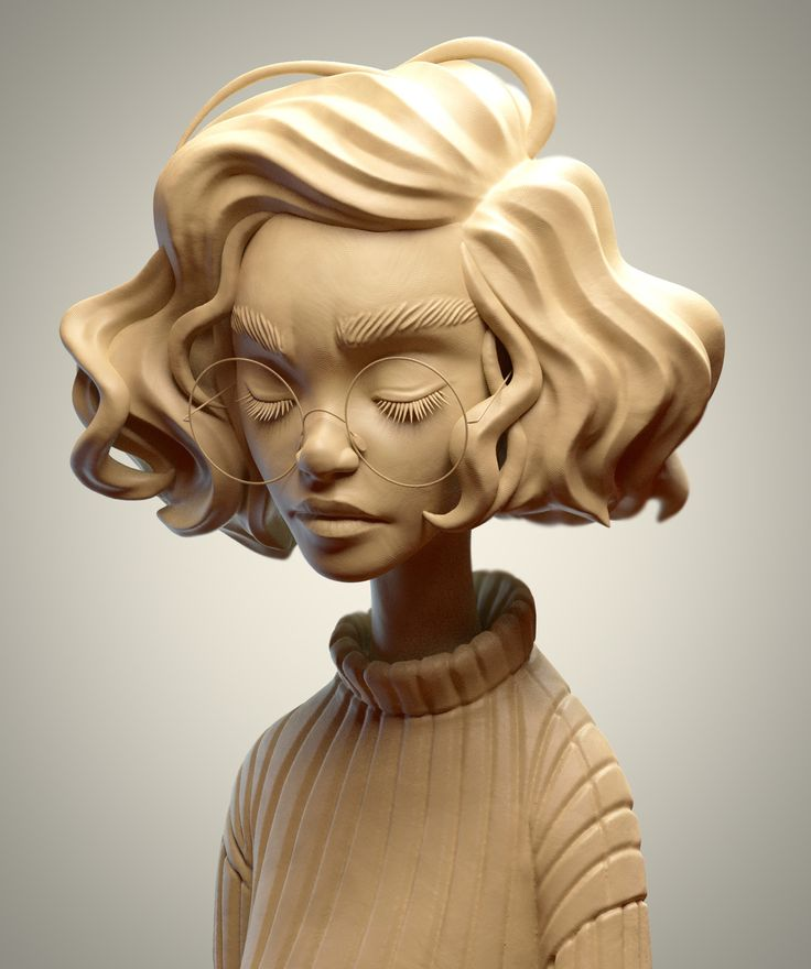 SculptJanuary 17 - Day 03: Woman Portrait, Julien Kaspar on ArtStation at https://www.artstation.com/artwork/znEJZ