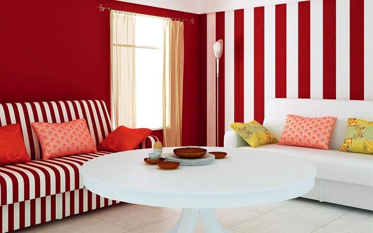 http://taizh.com/wp-content/uploads/2014/11/Winsome-living-room-interior-design-with-white-red-striped-paint-wall-and-sofa-as-well-big-round-white-table-along-with-colorful-pillow-on-white-sofa-also-glass-window-corner.jpg
