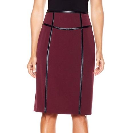 IMAN Platinum Collection Slim Silhouette Pencil Skirt