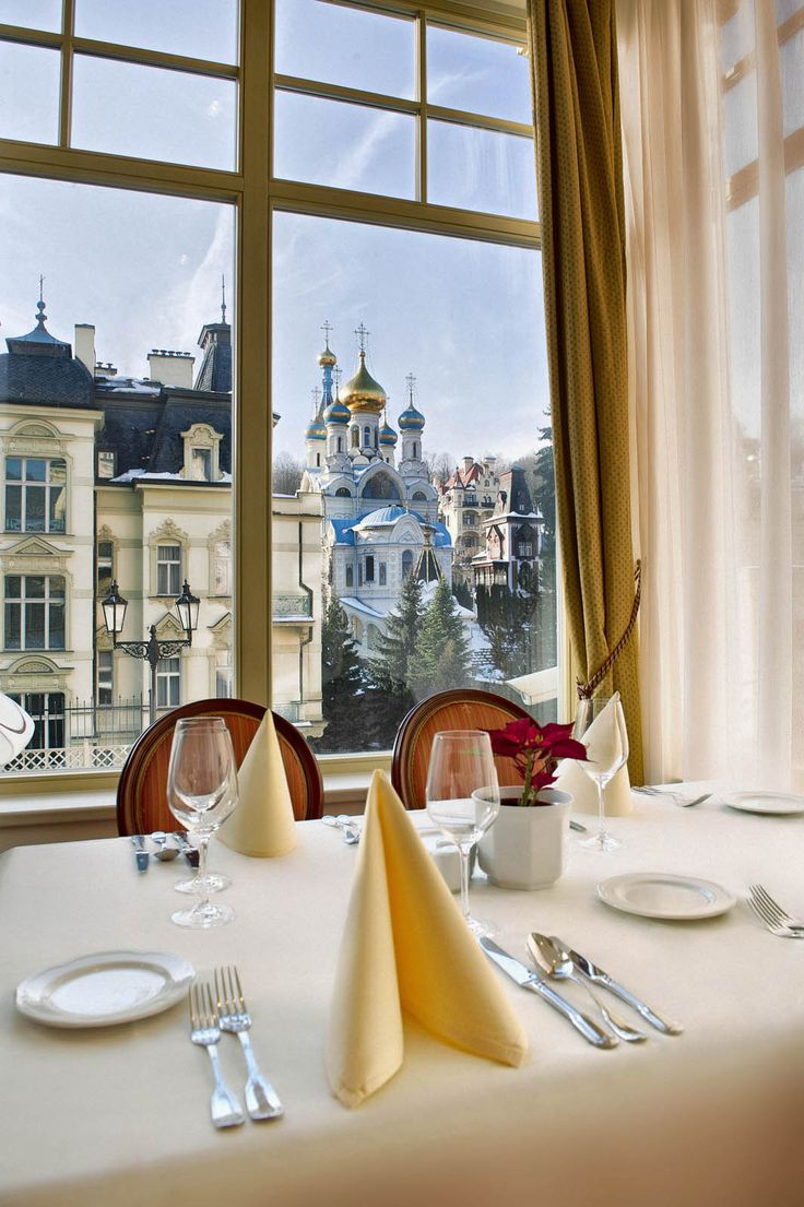 Dinner with a View? Yes, please!!! ... only at the exquisite Savoy Westend Hotel***** in Karlovy Vary, Czech Republic  #DinnerWithAView #RomanticDinner #RomanticGetaway #PureRelaxation #LuxurySpa #KarlovyVary #RomaticRetreat #LuxuryHotel #Wellness #WellnessDeluxe #WellnessRetreat #SpaWeekend #SpaHoliday #SpaRetreat #SpaWorld #SpaHotel #LuxuryLife #SpaDeluxe #LuxuryVacation #SpaResort #Relaxation #WellnessTime #WellnessTravel #WellnessHotel #WellnessJourney #WellnessLife