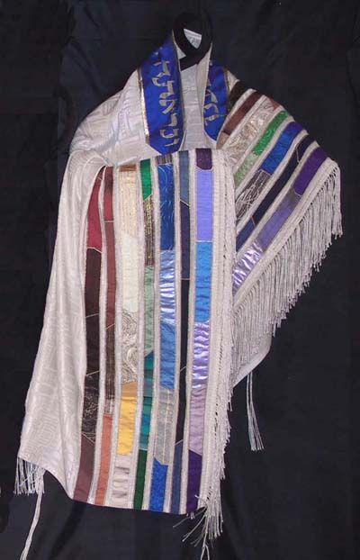 Rainbow Silk Tallit set-Vertical