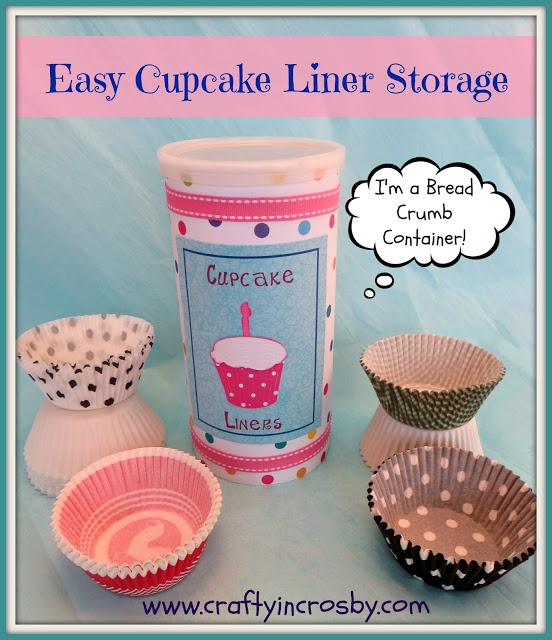 Easy Cupcake Liner Storage By Crafty In Crosby