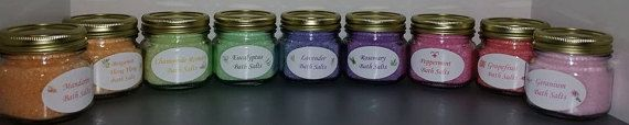 Organic Essential Oil Bath Salts 8 oz.  FREE by TulaSunflowersSpa