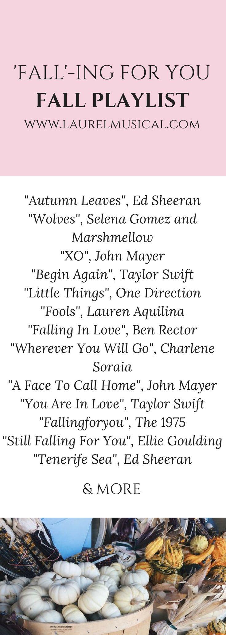Fall themed pop music Spotify playlist!