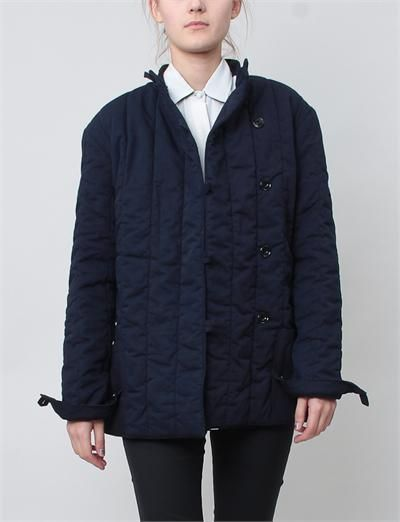 Christophe Lemaire Quilted Coat- Indigo by Creatures of Comfort