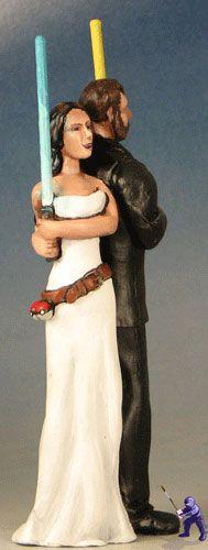 Geek Wedding Cake Topper
