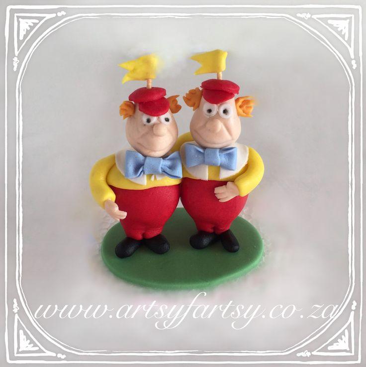 Alice in Wonderland Sugar Figurines #aliceinwonderlandsugarfigurines #twiddledeeandtwiddledum