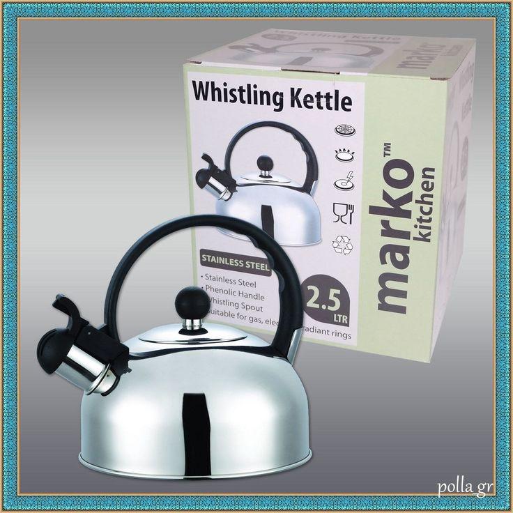 Whistling Kettle Stainless Steel Kitchen Appliances Caravan Camping 2.5 Ltr New | eBay