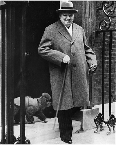 Sir Winston Churchill. Prime Minister during world war II