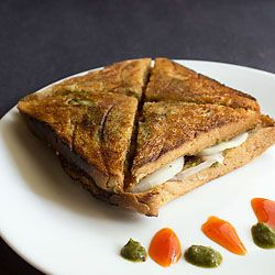 a delicious and healthy street food from bombay - the bombay veg toast sandwich