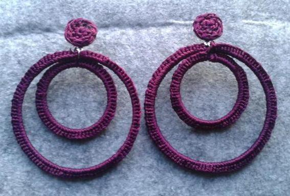 Pendientes de flamenca a ganchillo