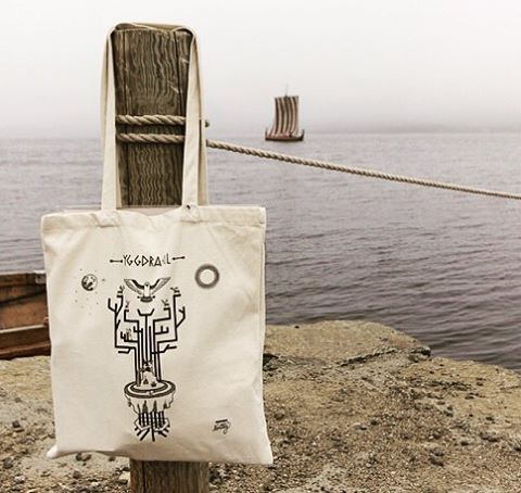 The Yggdrasil tote bag waiting to catch a ride on the Viking ship ✨⚓️✨ #yggdrasil #goth #occult #runes #silkscreen #totebag #handmade #madeinnorway #norsemythology #typography #nordicdesign #viking #oslo #norway #graphicdesign #illustration #vector #startup #blackartist #norwegianmade #thefinelab #slowroastedco #picame #thevectorproject #graphicroozane #graphicdesigncentral @graphicdesigncentral #visualtroop @visualtroop #designspiration @designspiration #ligaturecollective #typematters…