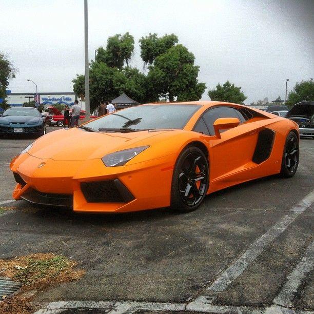 Vibrant Orange Lamborghini Aventador!