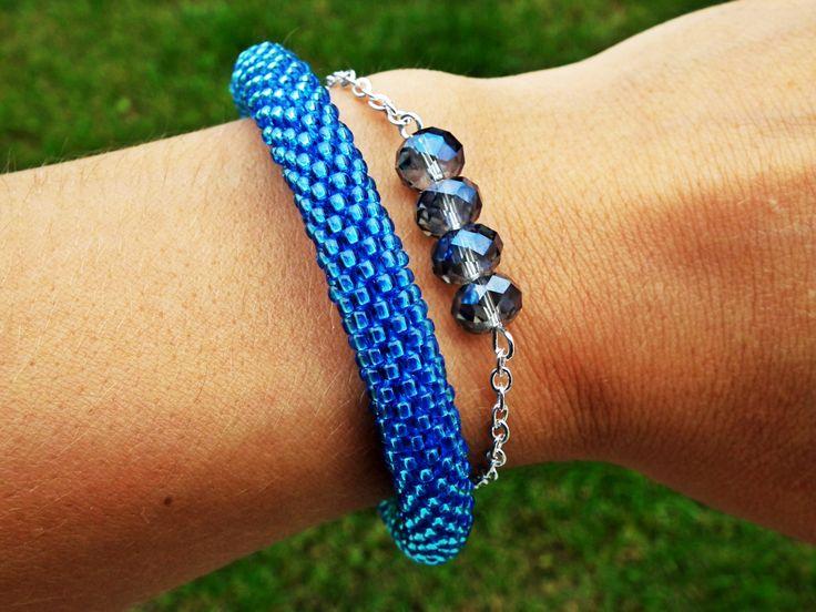 Set of 2  bracelet, September Birthstone Bracelet Swarovski Beaded Bracelet Beadwork Bracelet Gemstone Bracelet Women Birthstone Gift by MadeByJoLis on Etsy