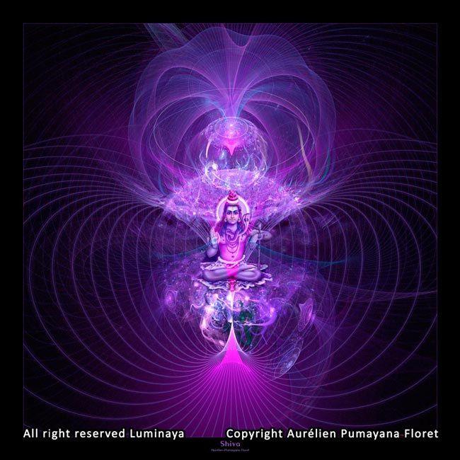 "Original Artwork Shiva, Spiritual Art, Psy Art, print on photopaper, 10x10"" (25cm x 25cm). $26.00, via Etsy."