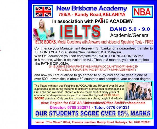 Academic General Ielts පන ත Tuition Teacher Ielts