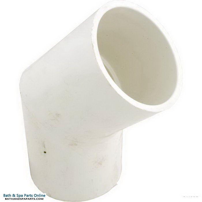 "Lasco SCH40 45 Degree PVC Elbow [3"" Slip x 3"" Slip] (417-030)"
