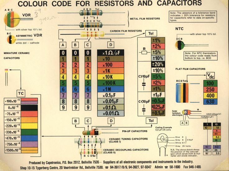 33 best images about Circuit Symbols \ Resistor color chart on - resistor color code chart