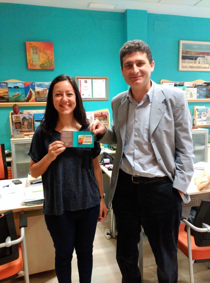 Felicidades Cristina de Vega, ganadora #SomosMásde2500 en facebook ¡disfruta de tu premio!