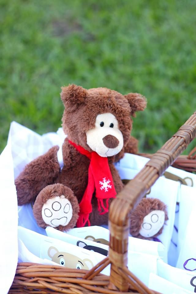 party packs and a teddy bear prize
