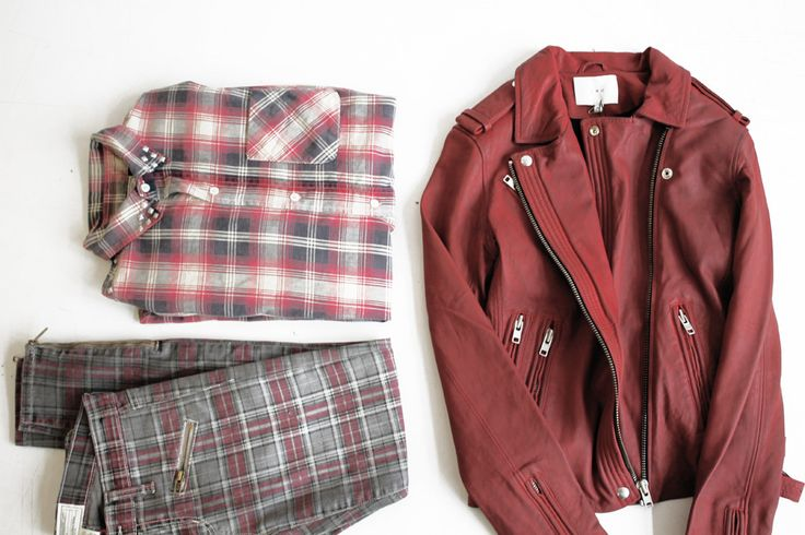 Current Elliot pants + shirt, Iro leather jacket