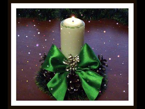 Подсвечник своими руками на Новый год и Рождество.Christmas candle holder - YouTube