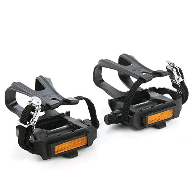 Zonkie Bike Pedals With Toe Clip And Strap 9 16 Inch Review Bike Pedals Pedal Bike