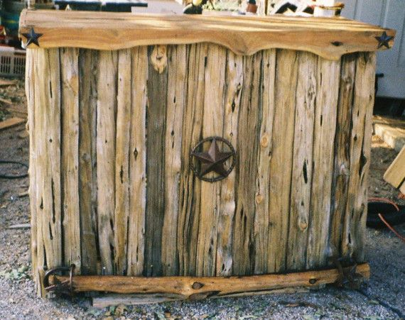 Cedar Log Bar or Rustic Western Retail Counter by jamesrobinson, $2395.00
