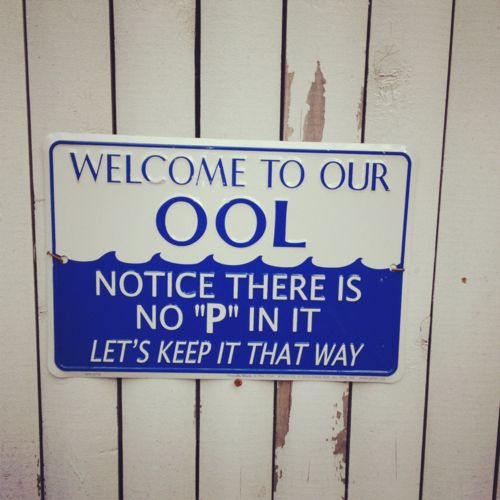 Best pool sign ever!