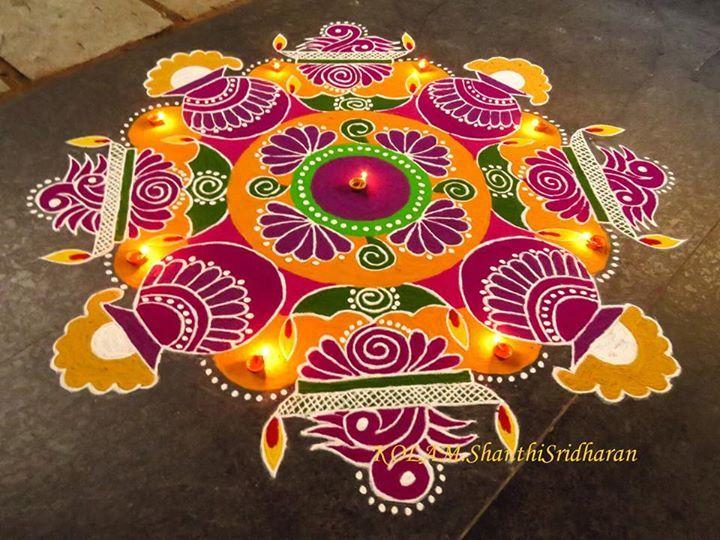 KOLAM.Shanthi Sridharan.