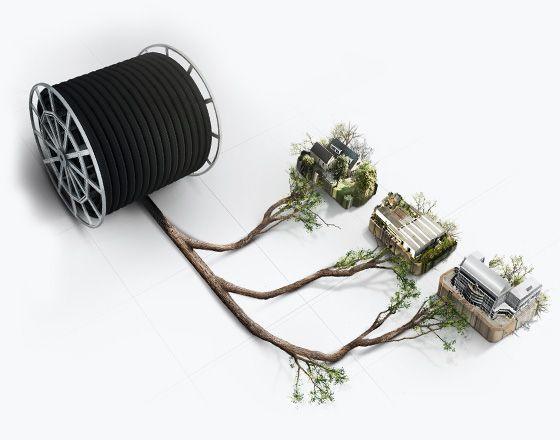 #Branche. Nous développons et mettons en oeuvre des #solutionintelligente en matière de distribution de l'énergie grâce à l'utilisation de systèmes de canalisations flexibles pré-isolés et de #branches pré-fabriquées à la pointe de la #technologie qui connectent les différents composants ou le bâtiment et les ressources.  Conformément à notre mission de préserver l' #énergie et l' #environnement, nous nous efforçons de travailler de manière totalement #durable.