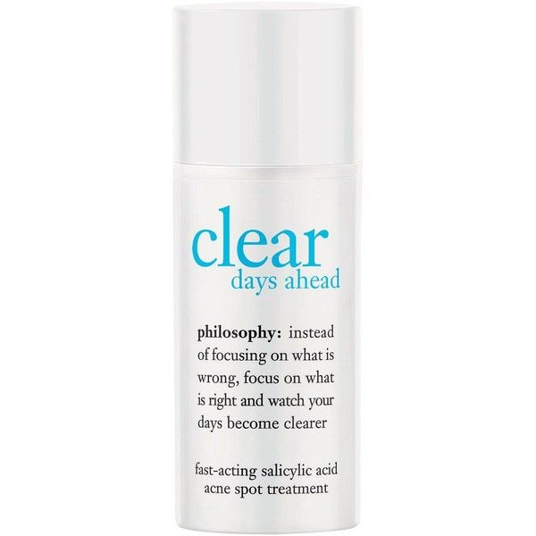 Philosophy Clear Days Ahead Fast-Acting Salicylic Acid Acne Spot... found on Polyvore featuring beauty products, skincare, face care, beauty, no color, philosophy skincare and philosophy skin care