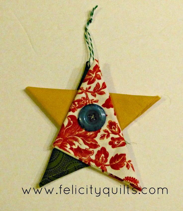 folded fabric ornaments instructions
