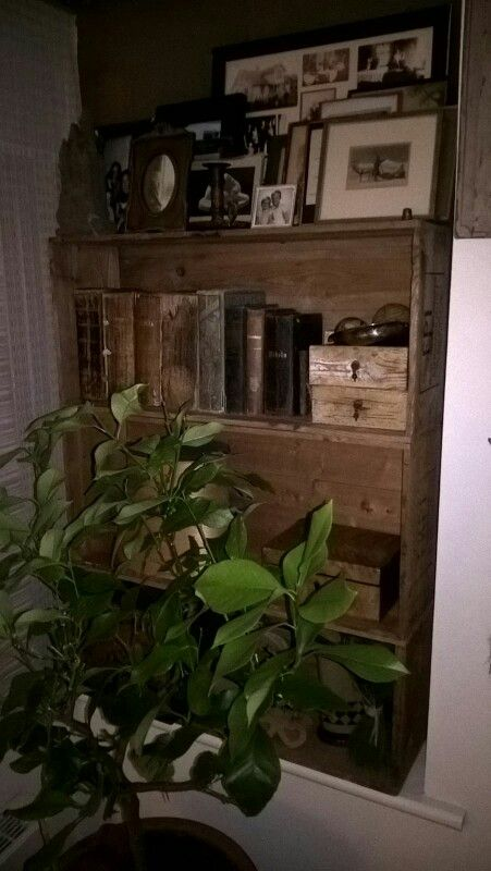 #old #frames #books #woodencrates