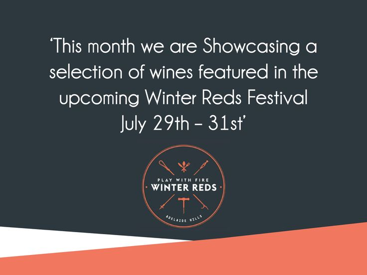 #Enomatic wines - Showcasing a selection of wines featured at the #AdelaideHills #WinterReds Festival