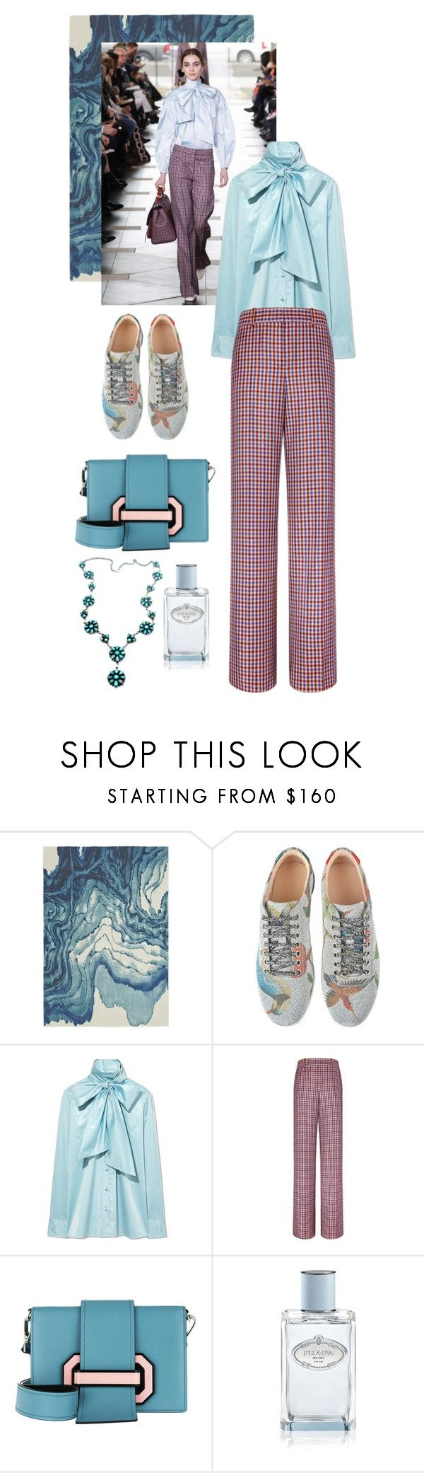 """Runway Look"" by cherieaustin on Polyvore featuring Blue Area, Tory Burch, Gucci, Prada and Child Of Wild"