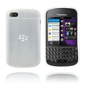 Frosted (Transparent) BlackBerry Q10-Skal - http://lux-case.se/frosted-transparent-blackberry-q10-skal.html