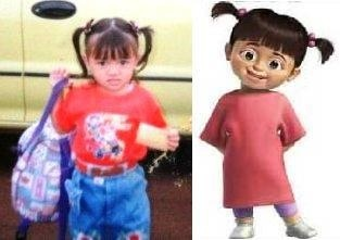 Real life Boo from Mosters Inc.