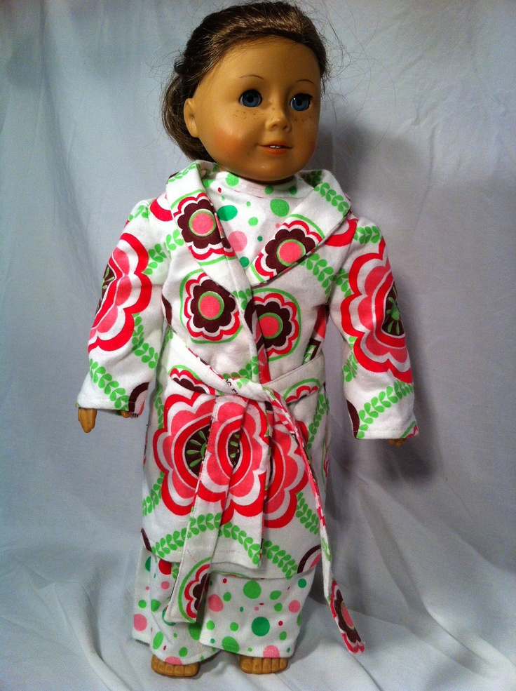 Bed time for any american doll. Love the color combo.