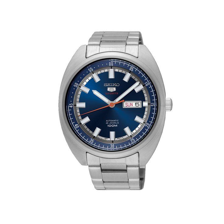 Ανδρικό ρολόι SEIKO SRPB15K1 από τη γνωστή σειρά «5» με μπλε καντράν, ημέρα, ημερομηνία και ατσάλινο μπρασελέ | ΤΣΑΛΔΑΡΗΣ στο Χαλάνδρι #seiko #σειρα5 #μπλε #μπρασελε #tsaldaris