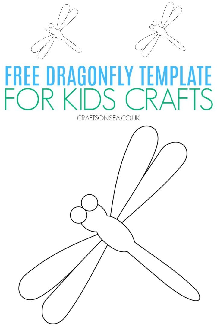 Dragonfly Template Free Printable Kidscrafts Dragon Fly Craft Templates Printable Free Summer Crafts For Kids