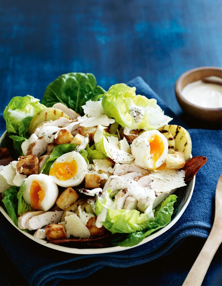 Winter-style Caesar Salad. http://www.woolworths.com.au/wps/wcm/connect/Website/Woolworths/FreshFoodIdeas/Recipes/Recipes-Content/winterstylecaesarsalad #Woolworths #Recipe #Caesar #Salad #Winter #Chicken #Creamy #Familyfavourite #Food